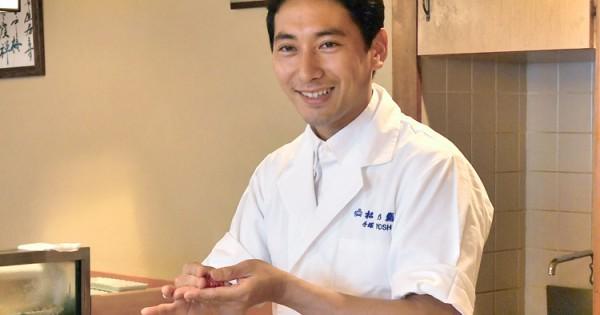 Yoshi Tezuka , 4th generation sushi chef, at Omorikaigan on July 20, 2018. for Alfa. YOSHIAKI MIURA PHOTO